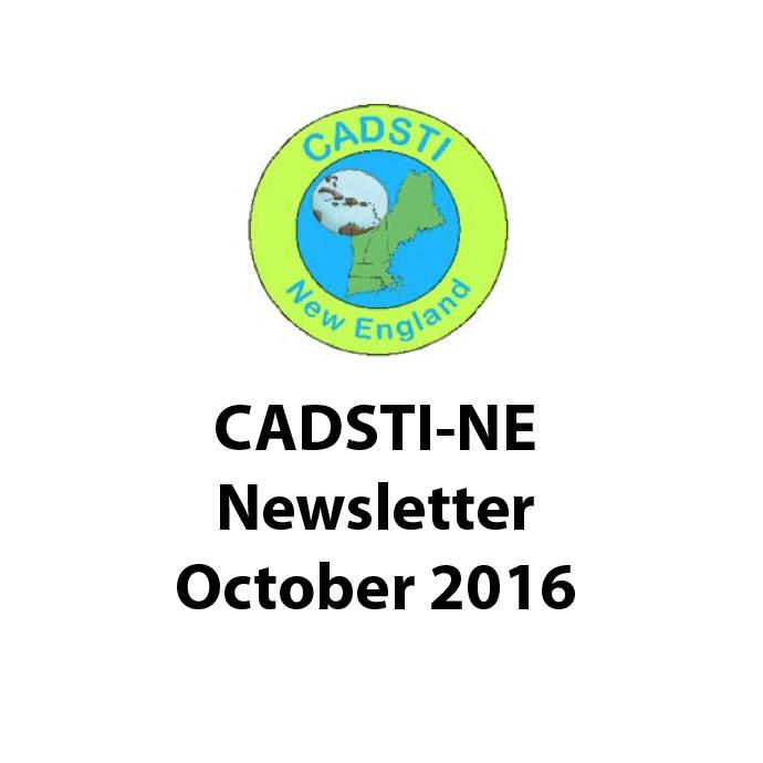 CADSTI-NE October 2016 Newsletter Published
