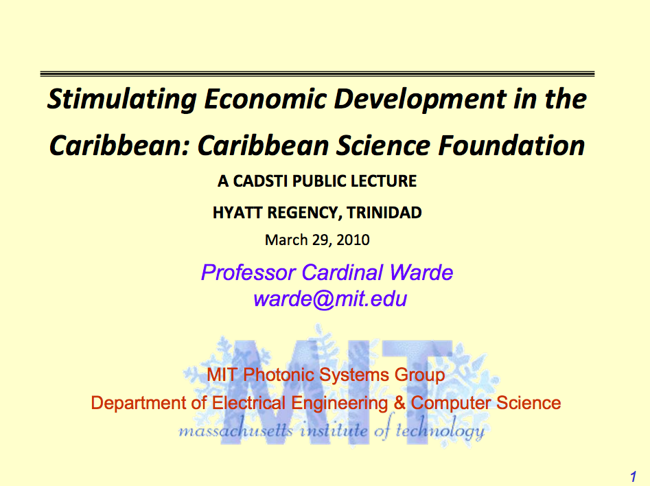 Stimulating Economic Development in the Caribbean