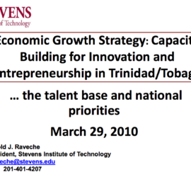 Capacity Building for Innovation and Entrepreneurship in Trinidad/Tobago, March 2010